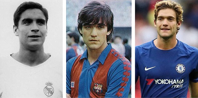 Marcos Alonso Imaz (left), Marcos Alonso Pena (centre) and grandson and son Marcos Alonso