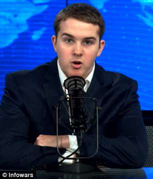 Rex Jones (above), the 15-year-old son of Alex Jones, the founder of the far-right site Infowars.com, has challenged Parkland survivor David Hogg to a debate