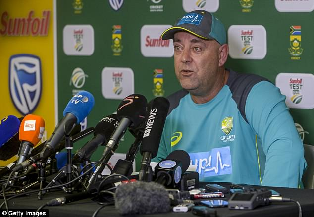 The abuse led to former coach Darren Lehmann (pictured) making a formal complaint and slamming Warner's treatment by fans as a 'disgrace'