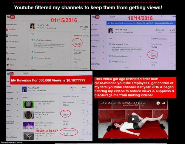 Aghdam was a prolific YouTuber who had ranted online against the company's new policies and for 'censoring her videos and not paying her'