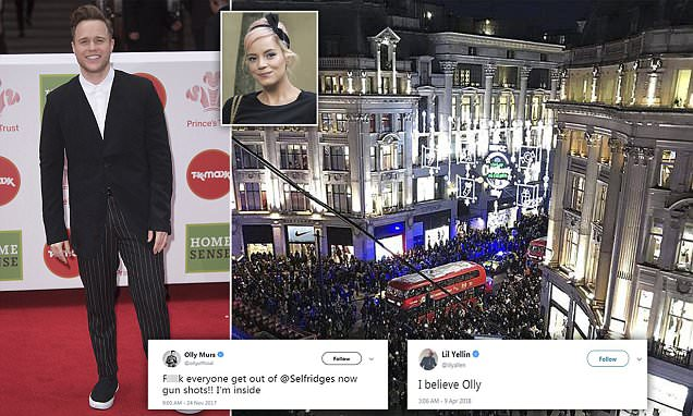 Police rubbish Olly Murs Oxford Circus shooting cover up