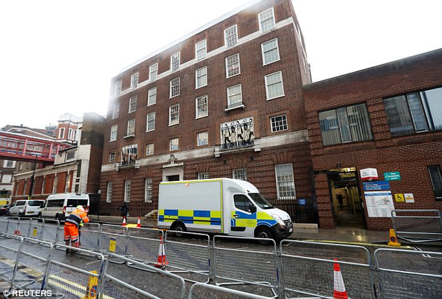 The Lindo Wing, pictured yesterday, is a top private facility offering 'world-class maternity care'
