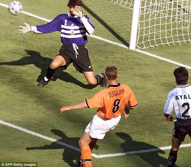 The Dutchman scored the winning goal for Holland in their 1998 clash with Argentina