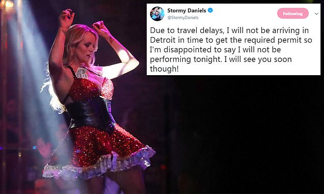 Stormy Daniels cancels appearance at Detroit strip club