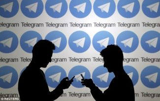 Russia has banned the Telegram messaging app after it - because the company refuses to reveal its encryption key (file picture)