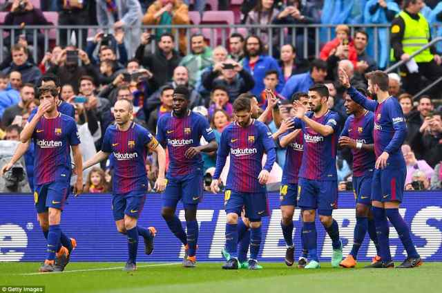 Barcelona set a new La Liga record having gone 39 games unbeaten and they are closing in on winning the league title