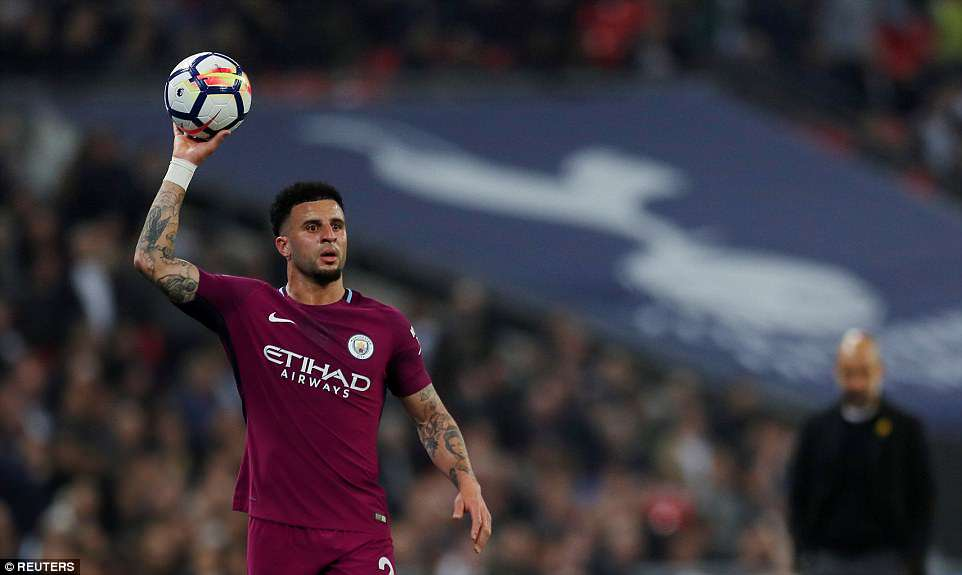 Kyle Walker, who spent eight years on the books at Tottenham, was booed by his former supporters at Wembley Stadium