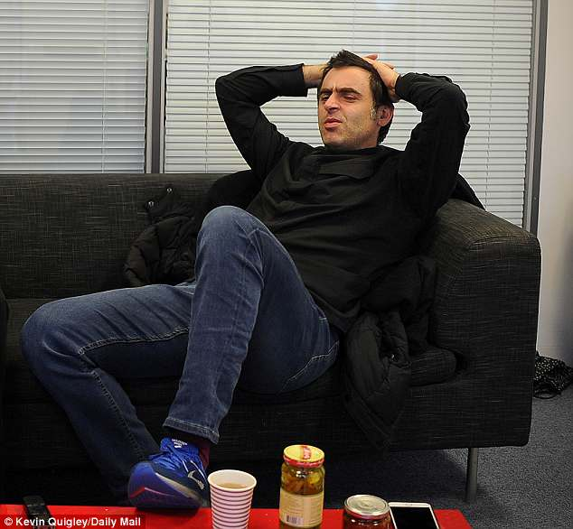 Reclined on the sofa, O'Sullivan talks to Sportsmail about how he ranks his tournament wins