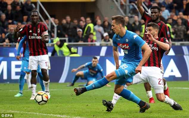 Milik should have stolen the points for Napoli in the final moments but is denied