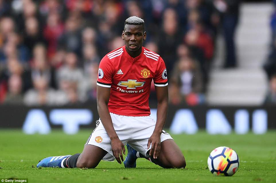 Paul Pogba once again struggled to make an impact for Manchester United and was taken off before the hour mark