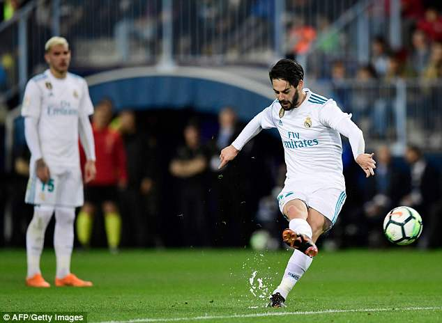Isco whipped in a brilliant free-kick to open the scoring for Real Madrid on Sunday evening