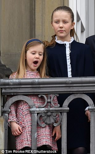 Princess Josephine is seen with her older sister, Isabella