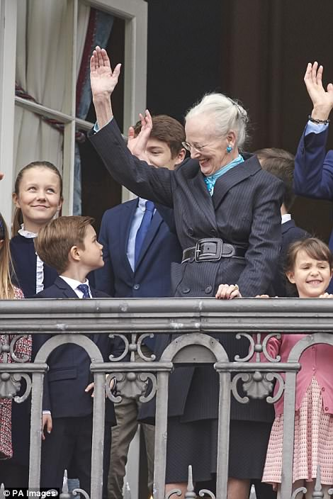 The Queen was seen smiling at her seven-year-old grandson, Prince Vincent