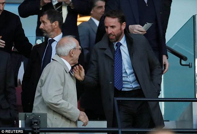 England manager Gareth Southgate was at the London Stadium on Monday night