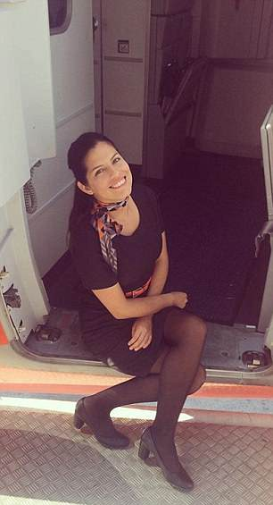 Easyjet's Paola Villa ready to start another day at work