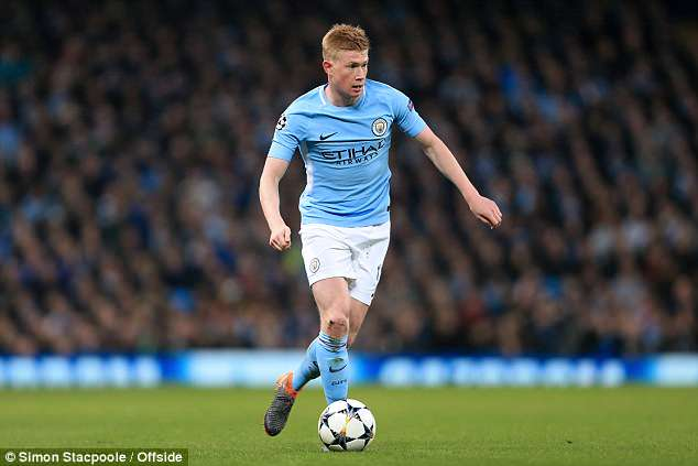 It's no surprise that Kevin De Bruyne features, following a hugely impressive season with City