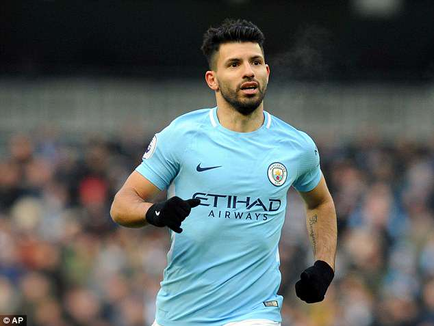 Sergio Aguero is one of five Manchester City stars to make the PFA team of the year 2018