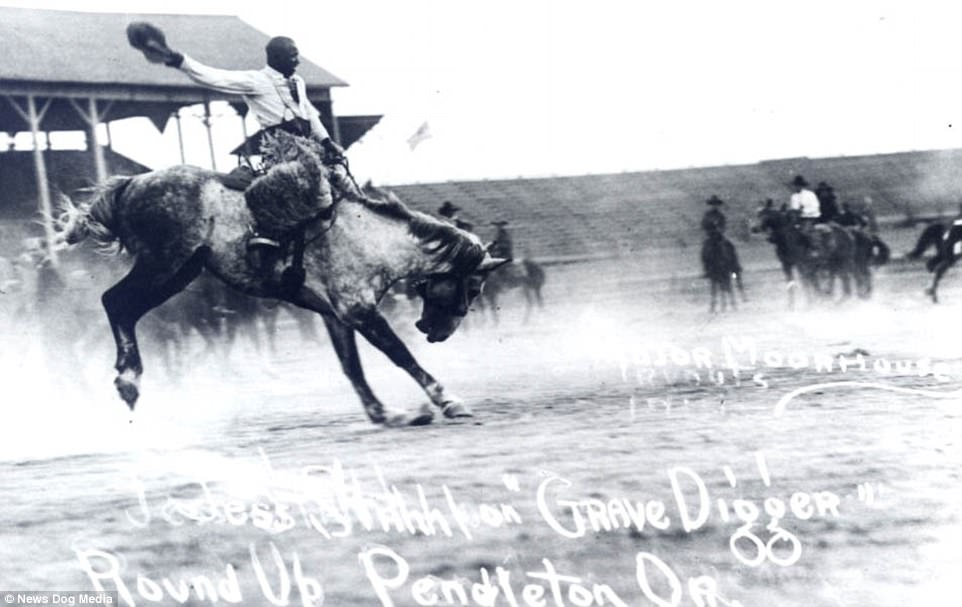 Jesse Stahl pictured flamboyantly riding a horse named Grave Digger, around 1916.Jesse Stahl is most famous for his performance at the Salinas Rodeo in California in 1912. Before more than 4,000 fans, Stahl stole the show in the rodeo's classic event of saddle bronc riding on the bronco named Glass Eye. The horse would buck, twist his body 180-degrees midair, and land in the exact opposite direction