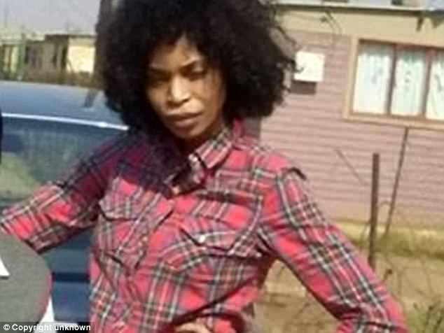 Berlinah Wallace (pictured), 48, is accused of murdering her ex-boyfriendMark Van Dongen, 29, after she attacked him with acid, which led him to go to suicide clinic