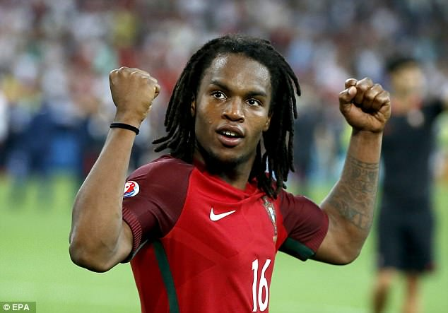 The young midfielder was part of the Portugal side that won Euro 2016 two years ago