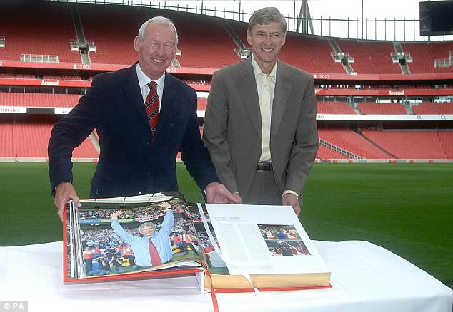 Image result for bob wilson and pat rise with wenger