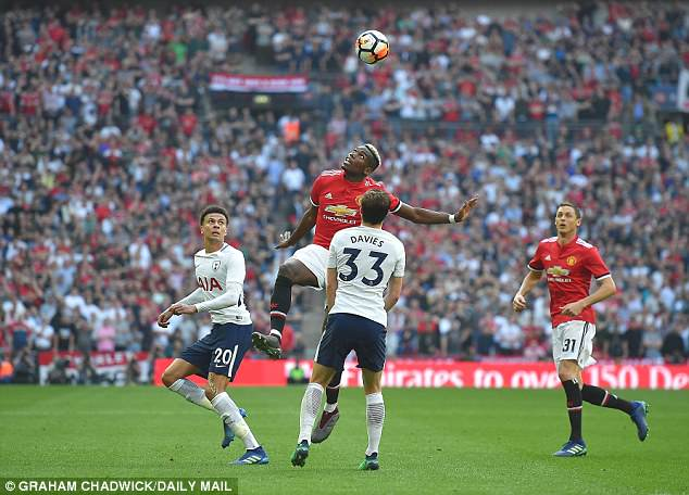 Paul Pogba, who has come under criticism lately, also dominated the midfield on Saturday