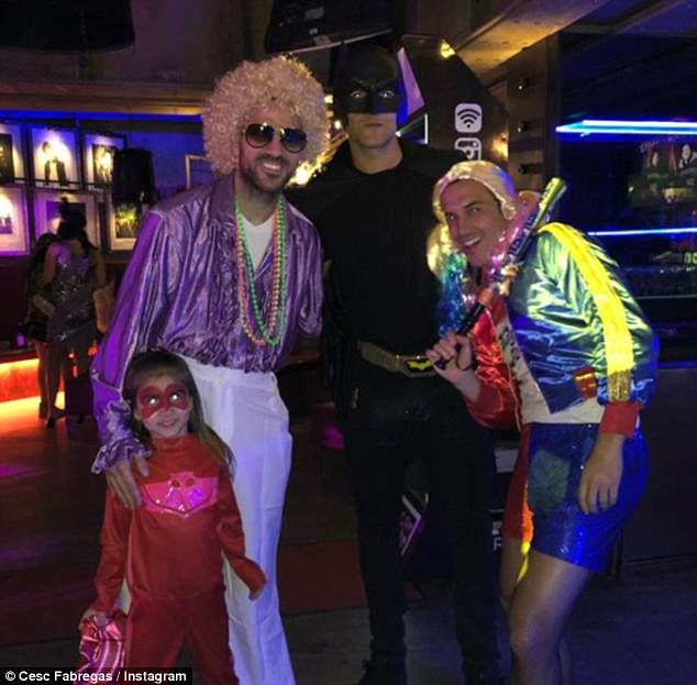Cesc Fabregas, Marcos Alonso and Pedro enjoyed a night out at David Luiz's birthday party