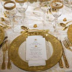 Green Dining Room Chairs West Elm Melania Trump's Place Settings Revealed For First State Dinner | Daily Mail Online