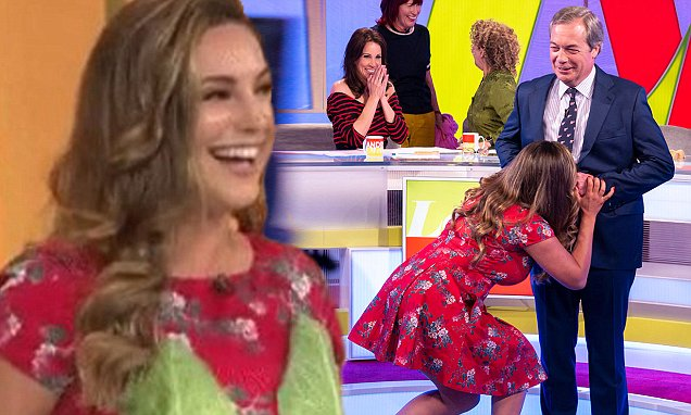 Image Result For Kelly Brook Makes Nigel Farage Undress And Blows An Intimate Raspberry On Him Entertainment News