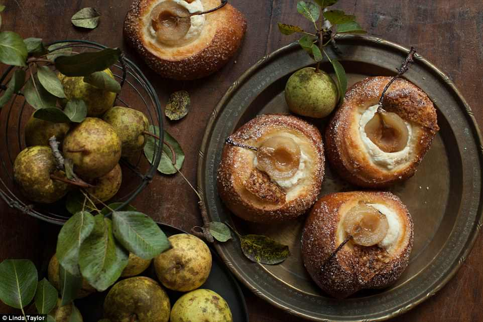 American photographer Linda Taylor won theMarks & Spencer Food Portraiture award for this mouthwatering image of small pears from her own tree which were used to create a delicious brioche pastry dessert by a local baker