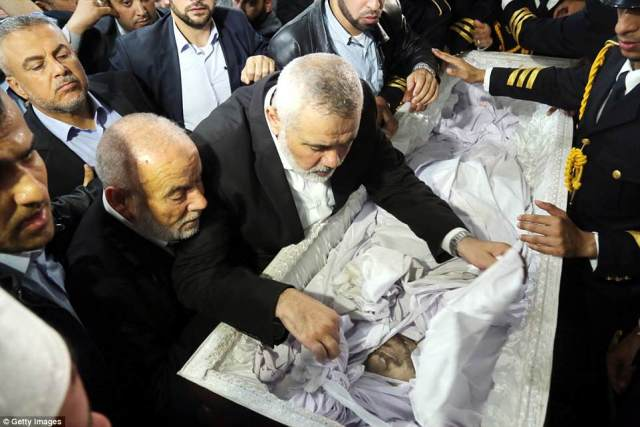 Ismail Haniyeh, Palestinian Leader pays his respect