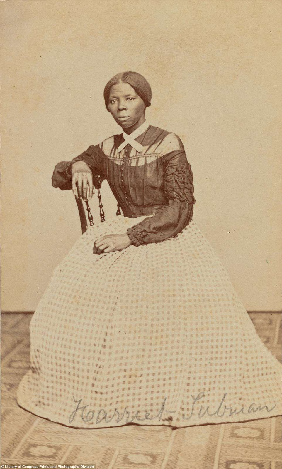 The photograph above shows Harriet Tubman - the famed American abolitionist and political activist who escaped slavery and helped dozens of other enslaved blacks find freedom