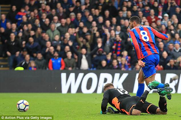 The on-loan Chelsea man scored in the 81st-minute to put Palace 3-0 up at Selhurst Park
