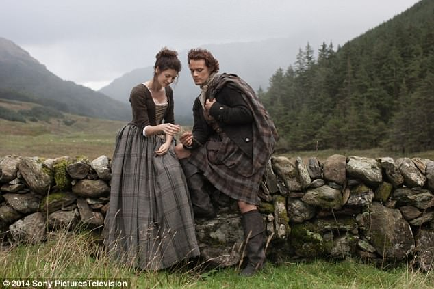Hotly-anticipated:Viewers were left on the edge of their seats when Claire and Sam Heughan's character James landed on the shores of America after battling an epic shipwreck in the season three finale of Outlander