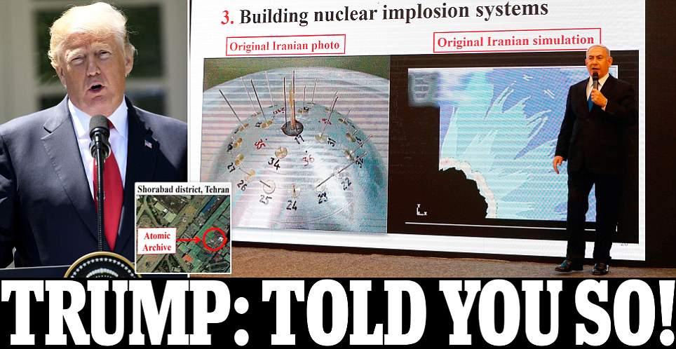 Iran's secret nuclear weapons program revealed by Netanyahu