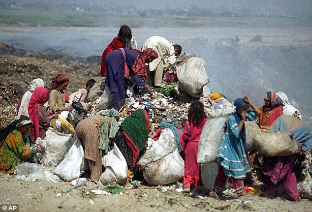 Hundreds of dead newborn girls have been found dumped in garbage piles in Pakistan over the last year amid a cultural preference for boys, it has emerged (file picture)