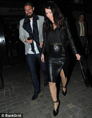 Chelsea striker Olivier Giroud enjoyed a night out with his wife Jennifer on Tuesday night