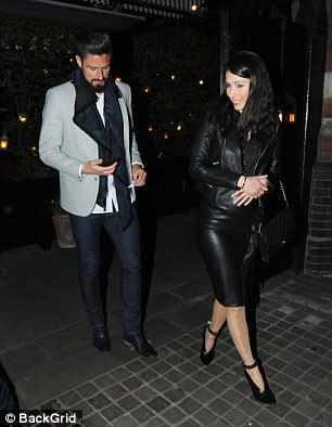 The smartly-dressed couple were all smiles as they left the Chiltern Firehouse in Marylebone, London