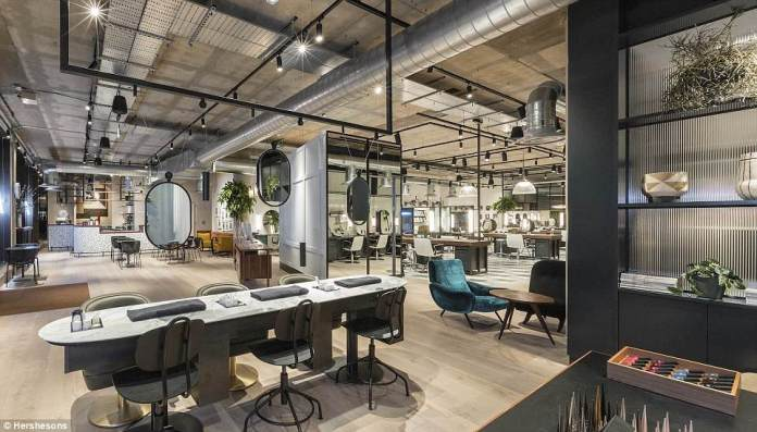 With the trend for so-called beauty superstores sweeping the country, hairdresser to the stars Luke Hersheson unveiled his 5,000 sqft space in London's Fitzrovia this week (pictured), heralding what he calls a 'new era' in beauty