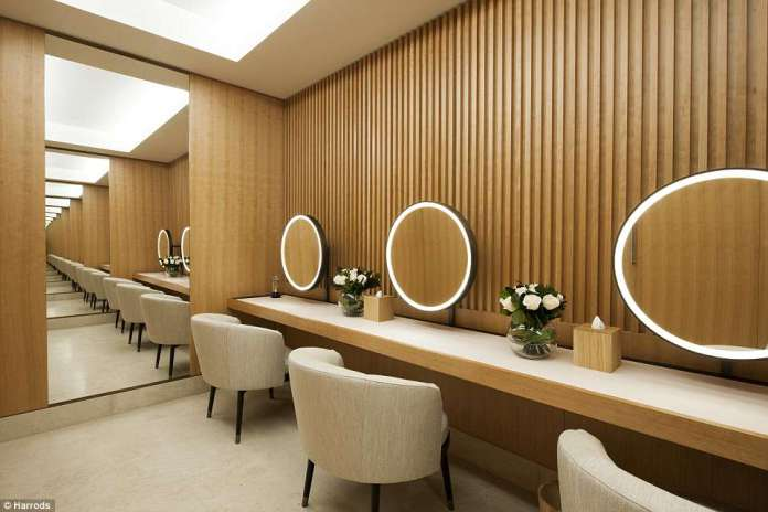 Now that's a salon!Luxury department store Harrods was one of the first to clock onto the superstore trend, opening their pioneering wellness clinic last May (pictured) comprising a staggering 14 treatment rooms