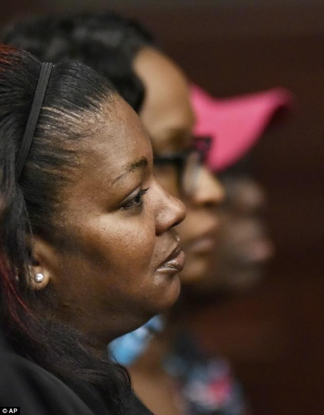 'I will always love you, always,' Williams said to Kamiyah, who was also in the courtroom gallery. 'But you're not mine. Your mother (pictured) and father are sitting right here'