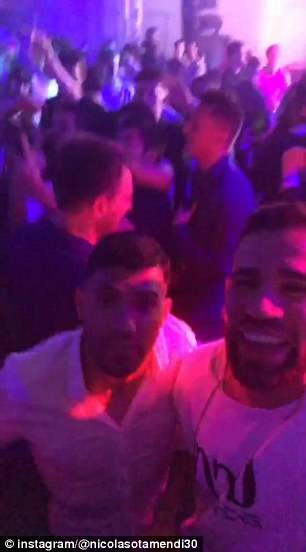 Otemandi also filmed himself and Aguero dancing and singing along to the music