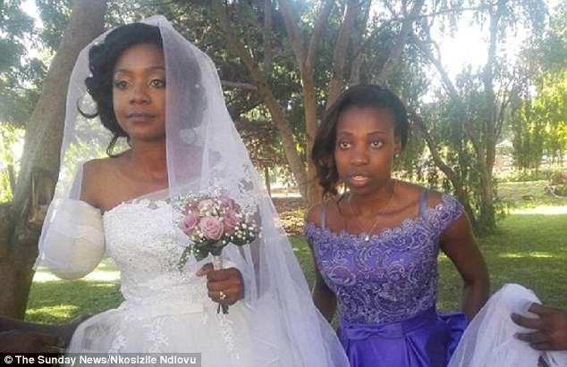 Crocodile attack: MsNdlovu, a former national tennis player, was attacked while canoeing in the Zambezi river above the Victoria Falls with her British husband-to-be