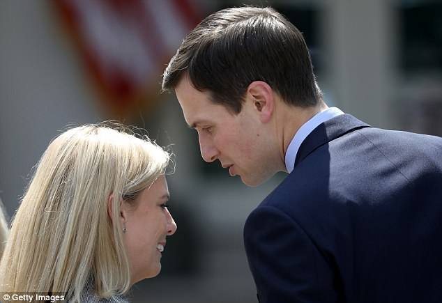 Jared, 37, was photographed speaking with Homeland Security Secretary Kirstjen Nielsen