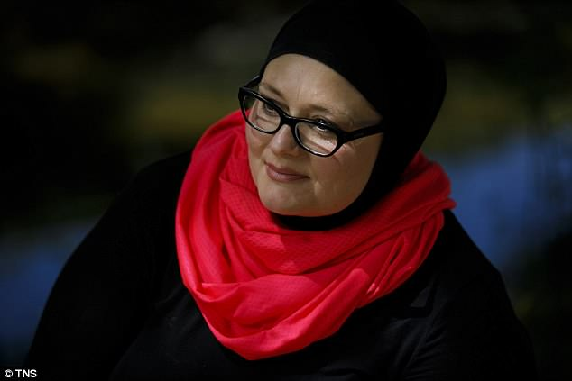 Jennifer Hyatt, a nurse from Newbury Park, was left feeling 'naked and humiliated' after a deputy snatched the scarf from her head, in front of a group of men, by theVentura County Sheriff's Department
