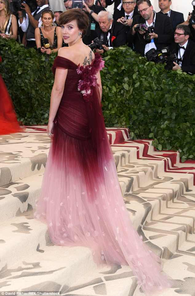 Concern: The 33-year-old actress, who has previously come under fire for supporting alleged abusers, donned a floral-embellished burgundy and pink design for the black tie event