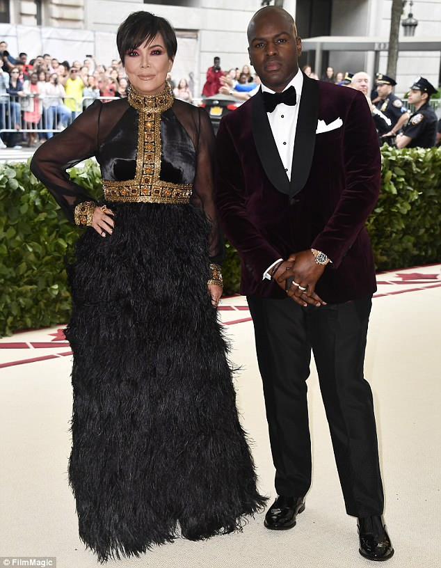 Dynamic duo: She was joined by her dashing 30-something beau Corey Gamble