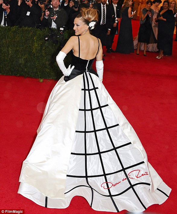 A vision:The 2014 gala was a nod to British fashion designer Charles James, who was widely known as America's First Couturier and Sarah Jessica Parker was widely considered to have stolen the show in her exquisiteOscar de la Renta gown