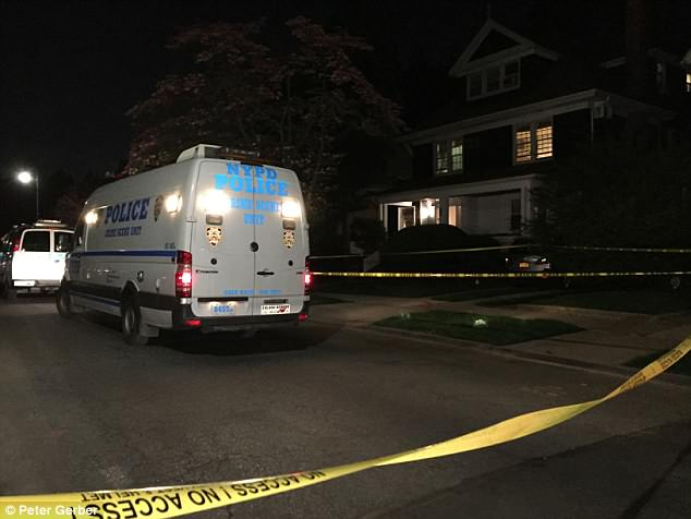 A neighbour was said to have spotted the man break-in and called his daughter when they heard screaming from the basement