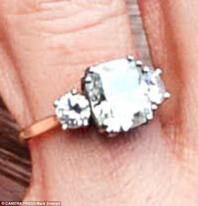 The dramatic ring is worth an estimated £122,50